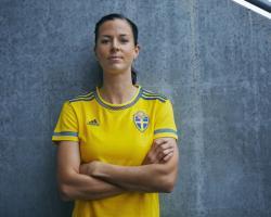 adidas tröja svart guld, Adidas Nilla Fischer 5 SvFF Jsy Gul