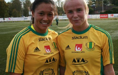 Ida Hedstad till vänster gjorde båda målen 62ee1f61681e4