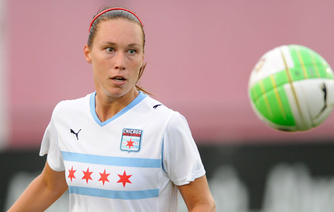 Whitney Engen, hier im Dress der Chicago Red Stars