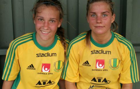 Julia Zigotti-Olme (till vänster) och Julia Ekholm ser fram mot  EM-slutspelet för F19. 7328ed1fa1eb1