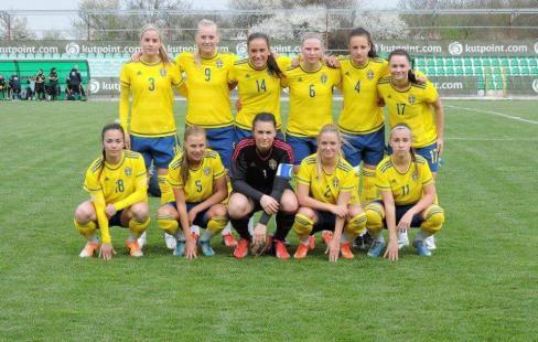 Sveriges damer mot danmark i slutspel
